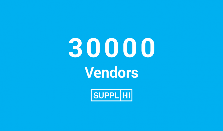 SupplHi reaches 30.000 Vendors from 110 geographies on platform