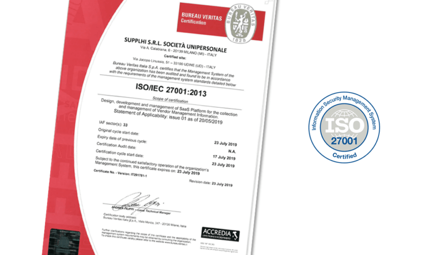 SupplHi achieves ISO 27001 Certification