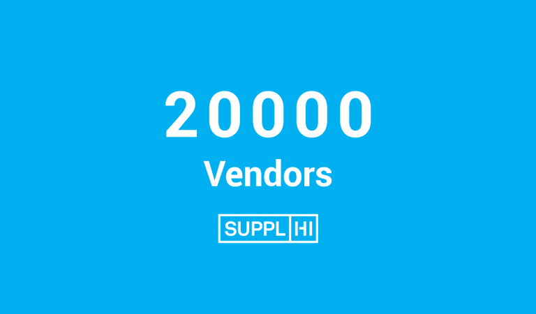 SupplHi reaches 20.000 Vendors from 110 geographies on platform