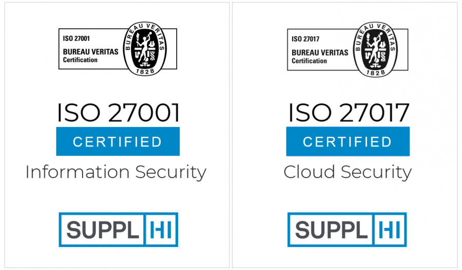 SupplHi SaaS doubles its ISO Certifications by achieving ISO/IEC 27017:2015 certification by Bureau Veritas