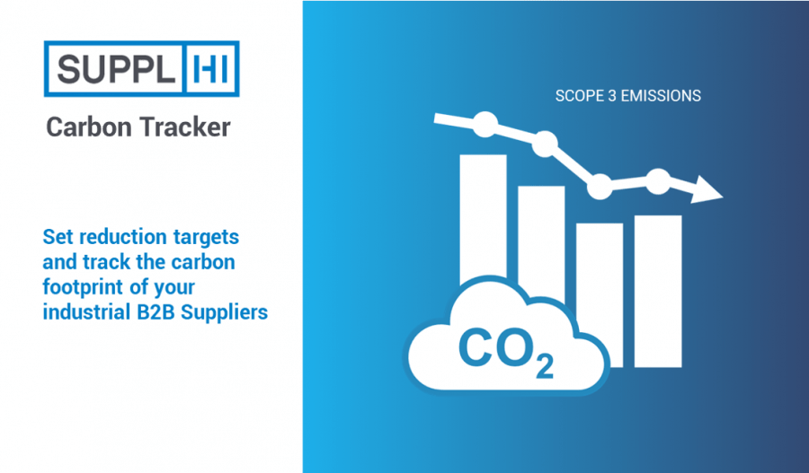 With SupplHi's Carbon Tracker, set reduction targets and track the carbon footprint of your industrial B2B Suppliers (Scope 3 emissions)