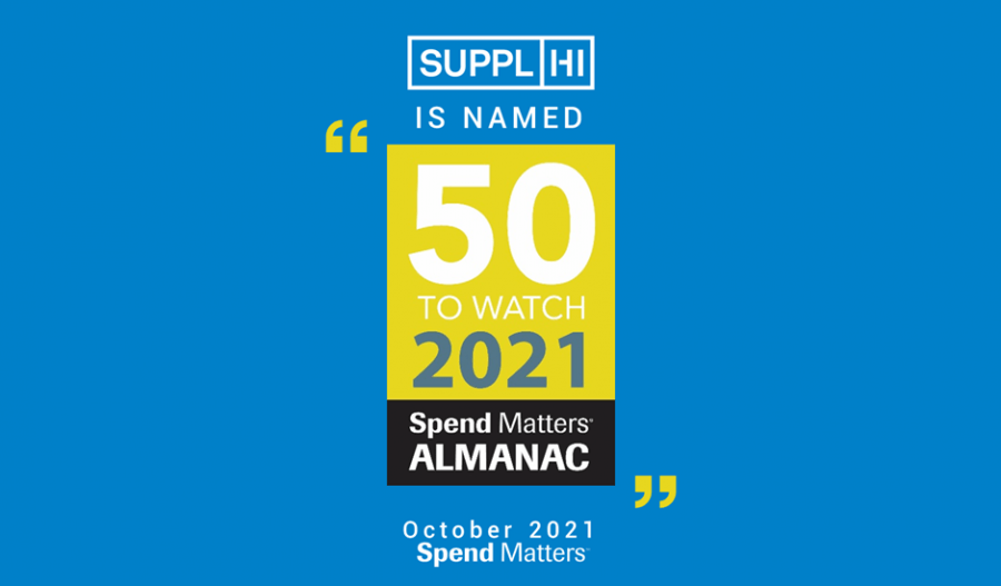 SupplHi has been selected as a Spend Matters 50 to Watch Provider for 2021
